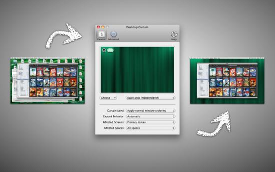 Desktop Curtain no Mac OS X