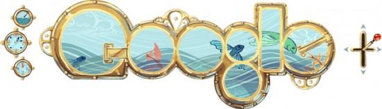 Doodle do Google sobre Júlio Verne
