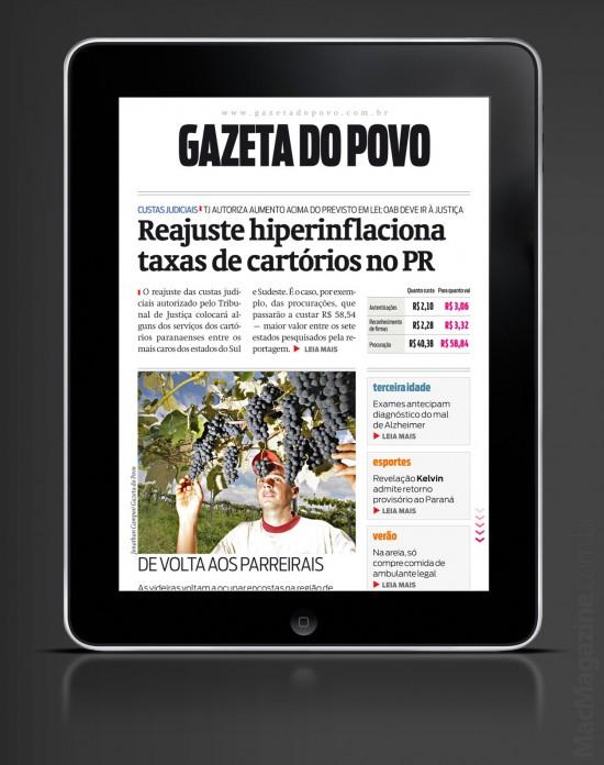 Gazeta do Povo no iPad
