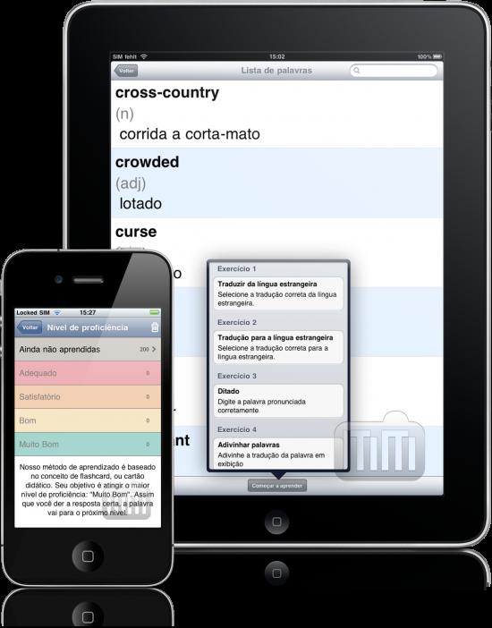 Construtor de Vocabulário Jourist. América - iPad e iPhone