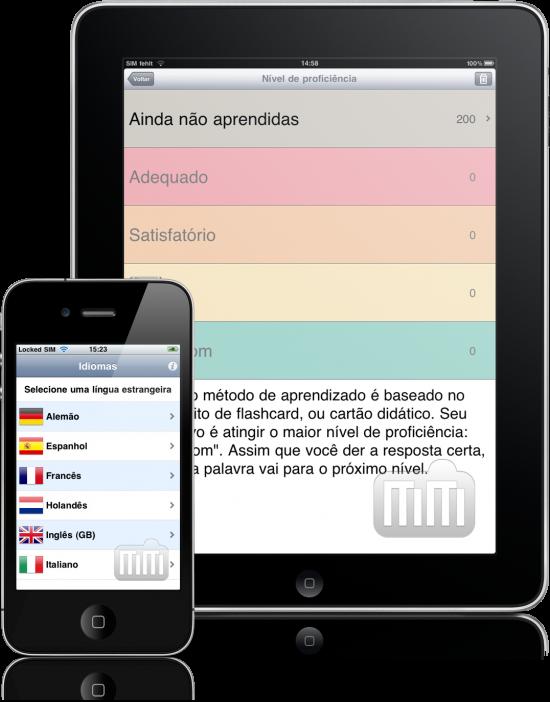 Construtor de Vocabulário Jourist. Europa Ocidental - iPad e iPhone