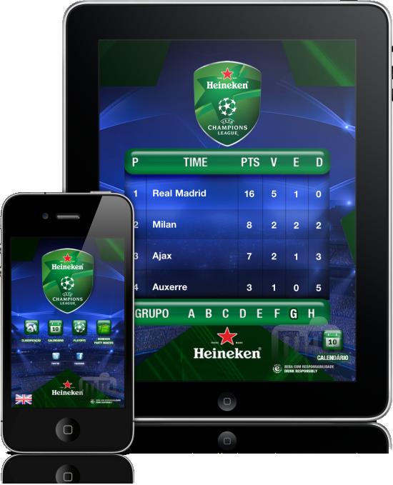 Heineken UEFA Champions League - iPad e iPhone