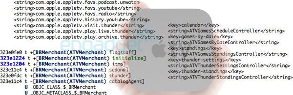 Código com referências a jogos no Apple TV