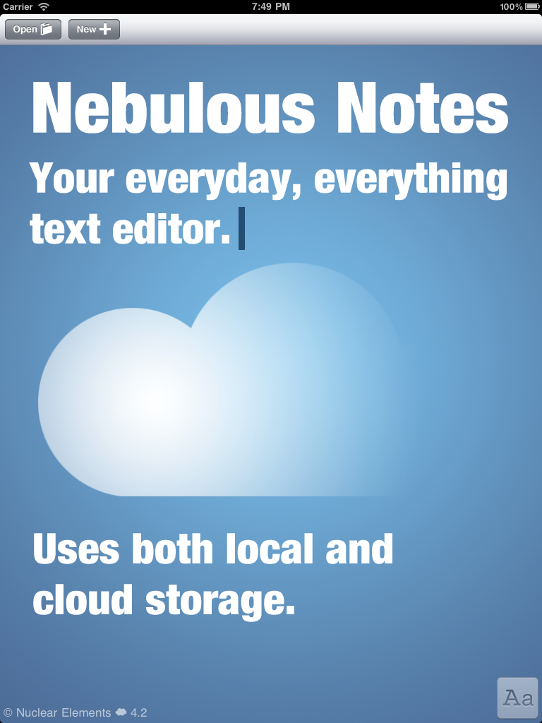 Nebulous Notes (for Dropbox)