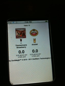 Taps Manchester com iPods touch