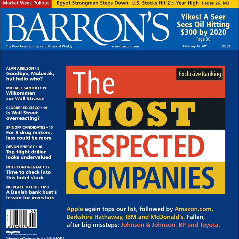 Empresas mais respeitadas - Barron's