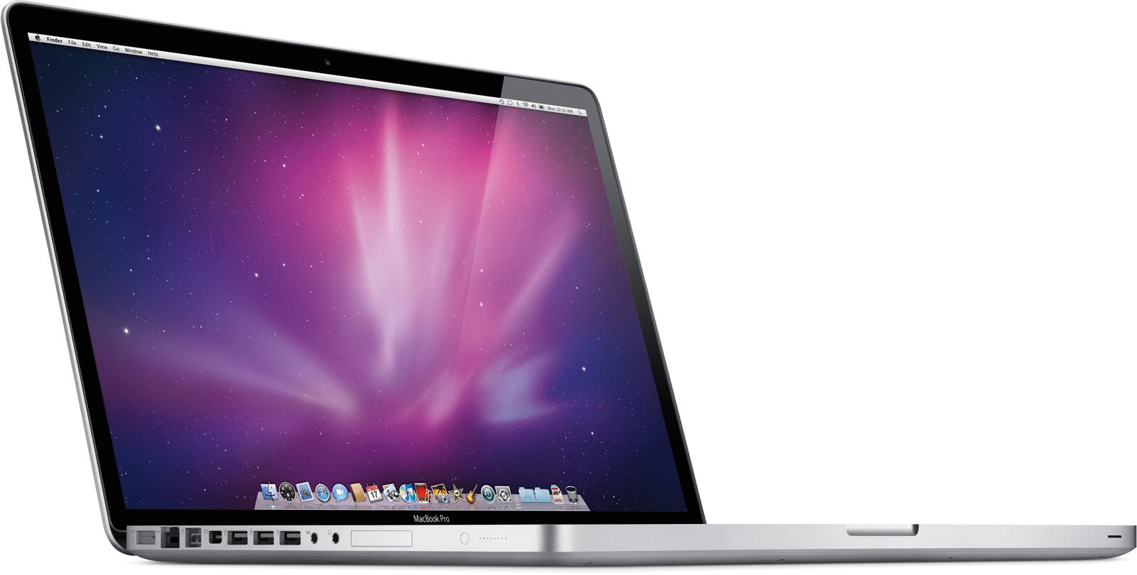 MacBook Pro de 17 polegadas, de lado