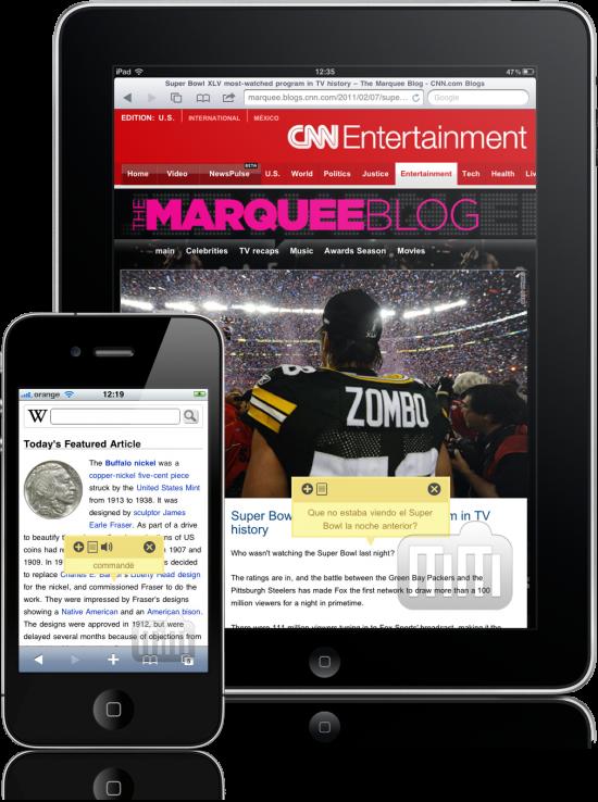 Tap-Translate - iPad e iPhone