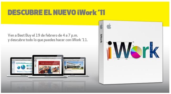 Convite da Best Buy México sobre o iWork 11