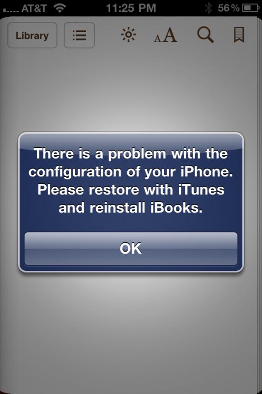 iBooks bloqueado em iPhones jailbroken