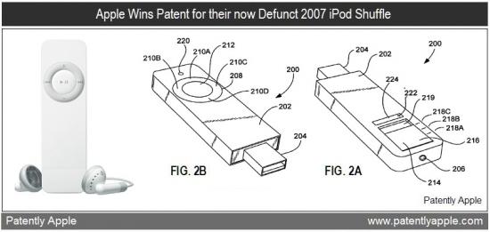 Patente do iPod shuffle de primeira geração