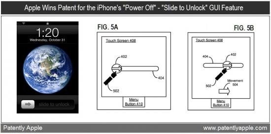 Patente de desligamento do iOS