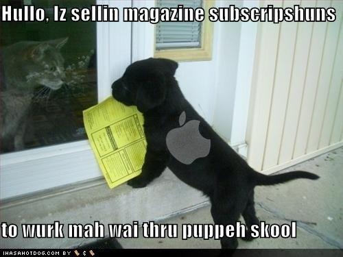 Apple vendendo assinaturas - I Haz a Hotdog