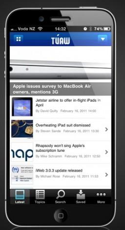 Mockup de iPhone com tela de 4 polegadas