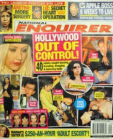 Capa de edição do National Enquirer