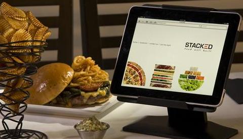 iPad usado no restaurante Stacked