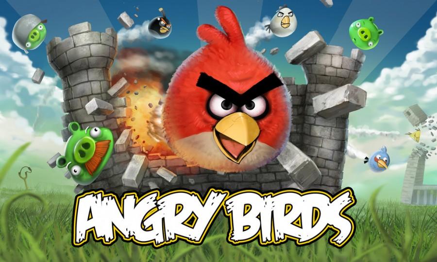 Tela inicial de Angry Birds
