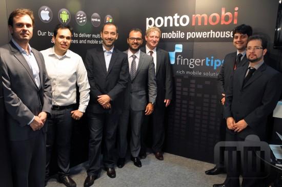 Executivos da FingerTips e da Pontomobi, do grupo RBS