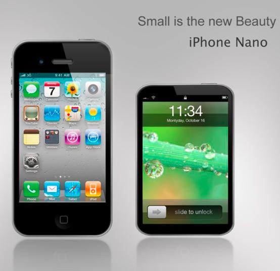 Mockup de iPhone nano