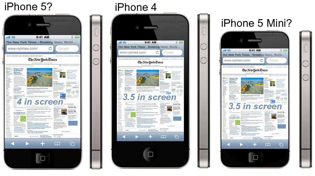 Mockup de iPhone nano e iPhone 5