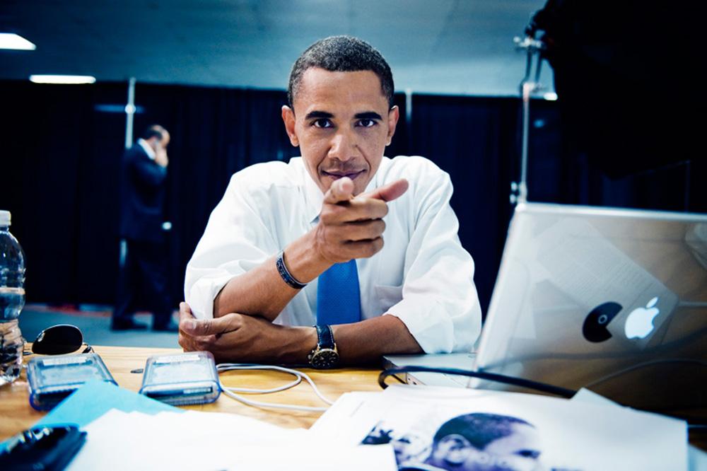 Barack Obama com MacBook