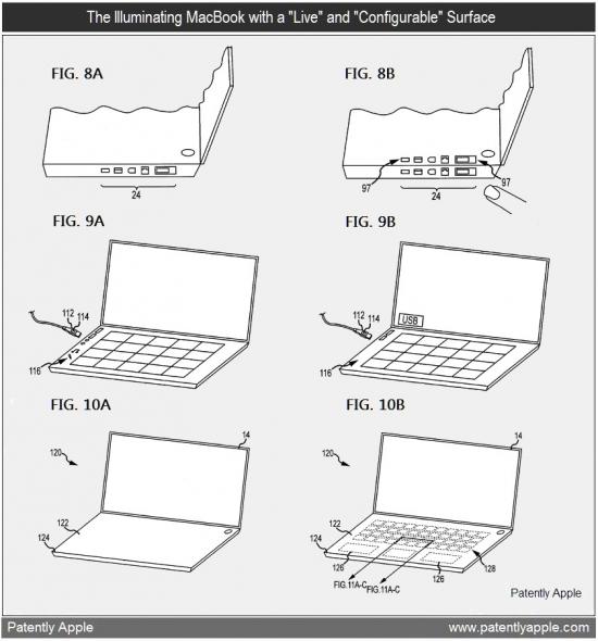 Patente de MacBook com superfície viva