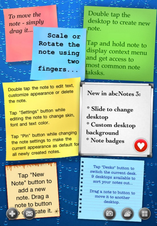 abc Notes - Sticky Note Application