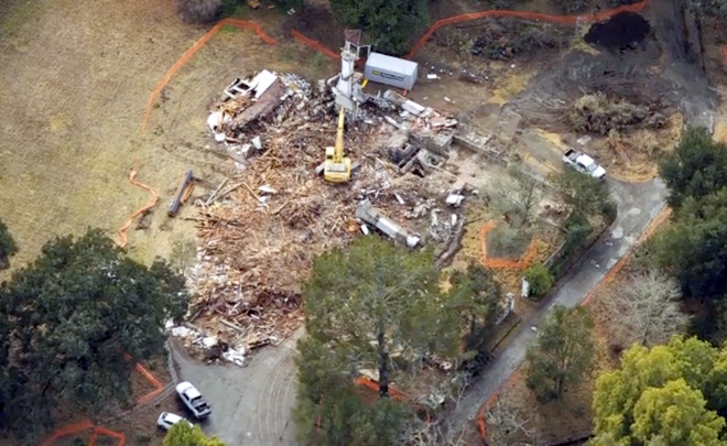 Foto aérea da Jackling House demolida