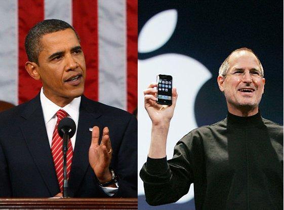 Barack Obama e Steve Jobs