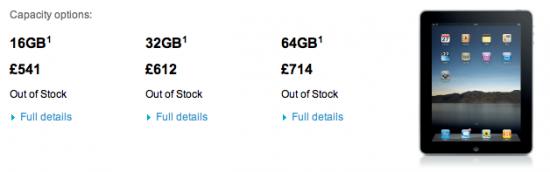 iPad esgotado no Reino Unido
