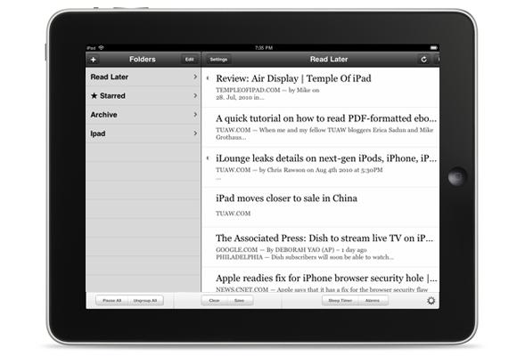 Readability no iPad