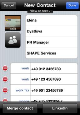 Business Card Reader para iOS