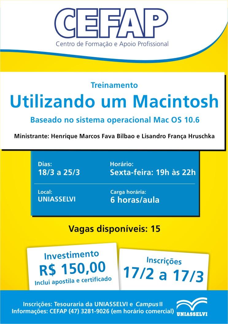 Curso de Mac na Uniasselvi