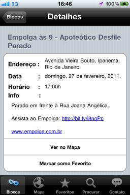Blocos do Rio - iPhone