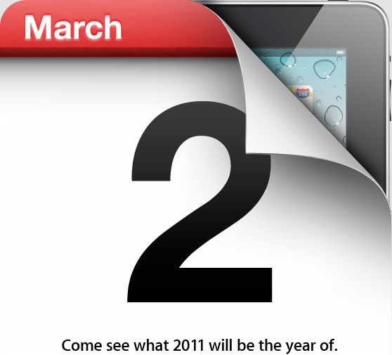 Convite do evento do iPad 2
