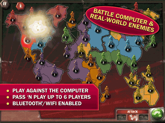 RISK: The Official Game for iPad