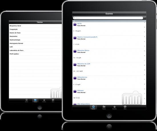 Exames Laboratoriais em iPads
