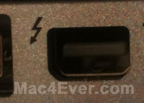 Porta Thunderbolt, do novo MacBookPro