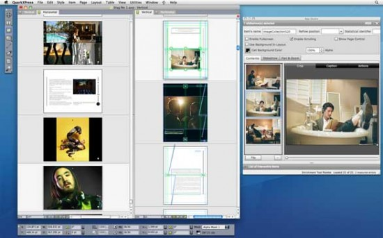 Screenshot do QuarkXPress 9