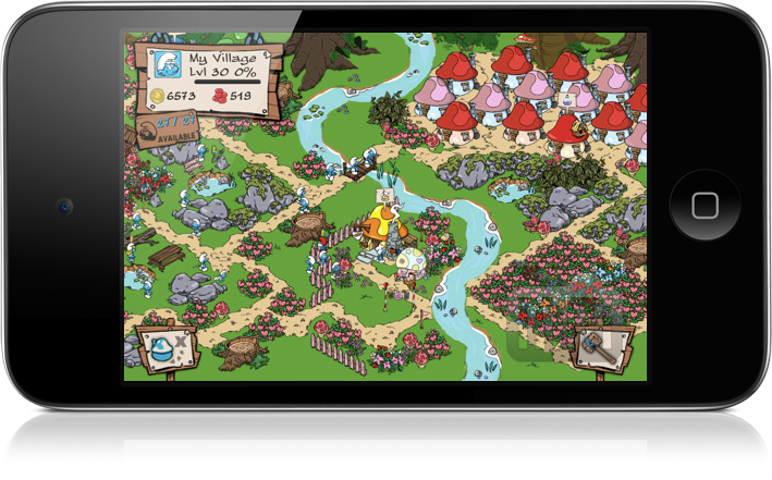 Smurfs' Village no iPod touch