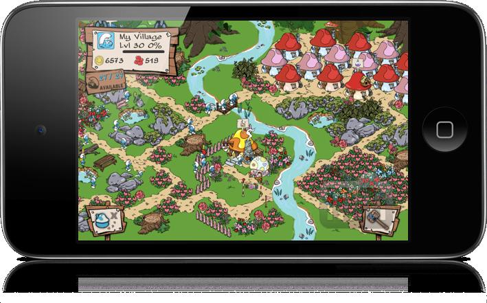 Smurfs' Village no iPod touch