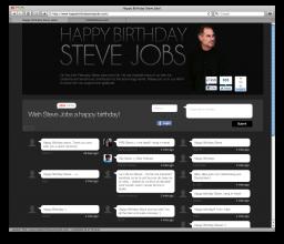 Site dedicado a Steve Jobs