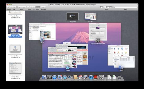 Preview no Mac OS X Lion