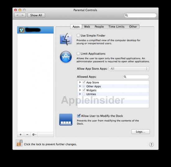 Controles parentais no Mac OS X Lion