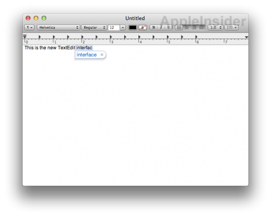 Substituição de texto no Mac OS X Lion