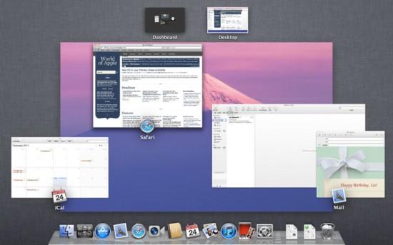 Mission Control no Mac OS X 10.7 Lion
