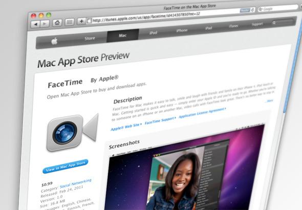 Cobrança de US$1 pelo FaceTime para Mac