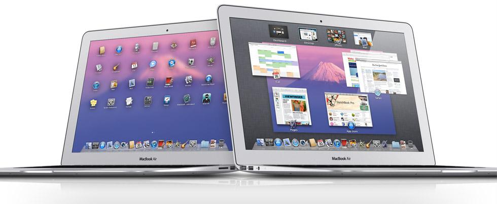 Mac OS X 10.7 Lion em MacBooks Air