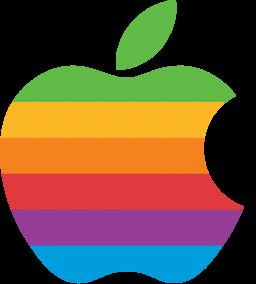 Logo colorido da Apple