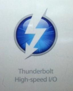 Imagem com logo da porta Thunderbolt